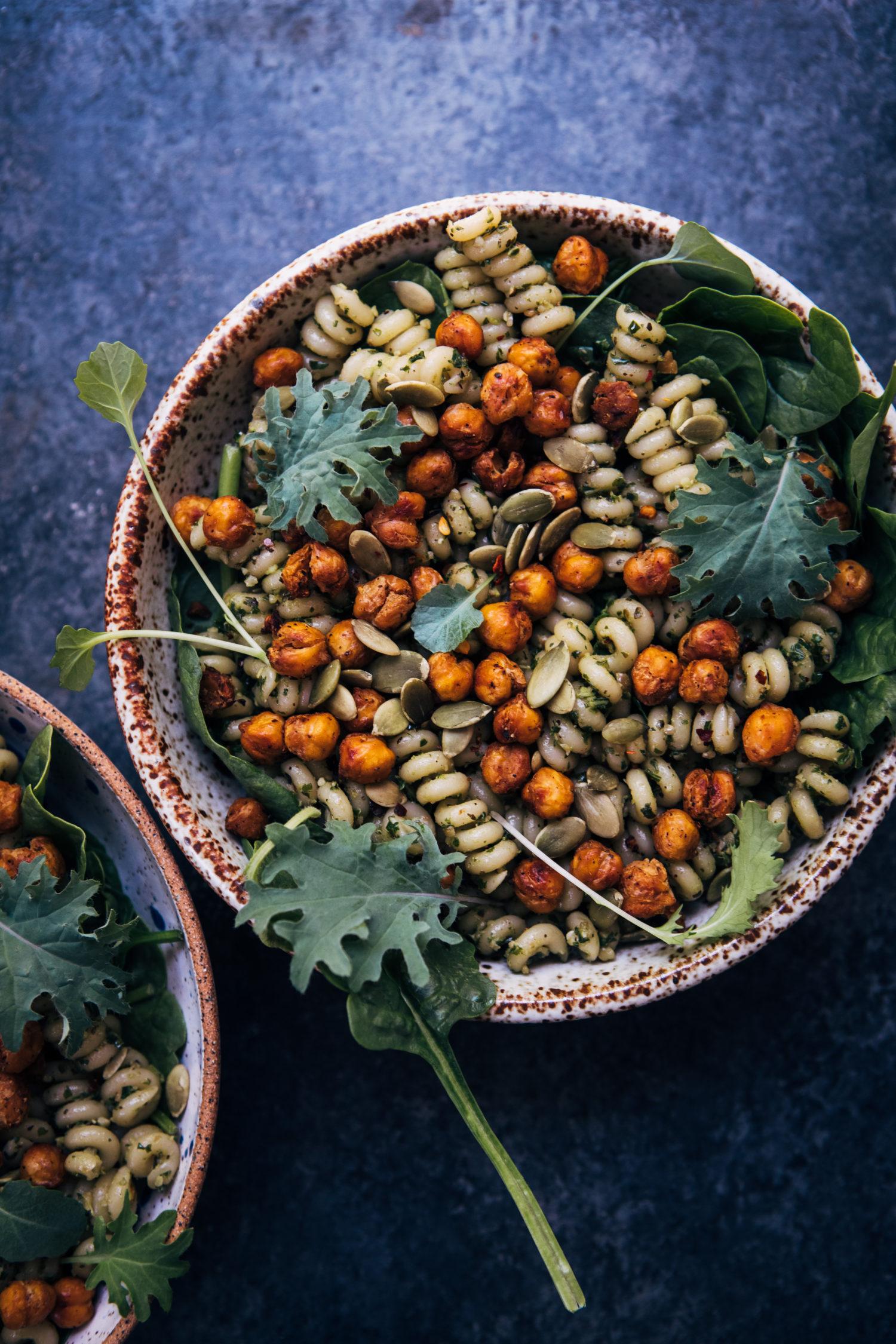 Vegan Pesto Chickpea Bowl | Well and Full | #vegan #healthy #recipe