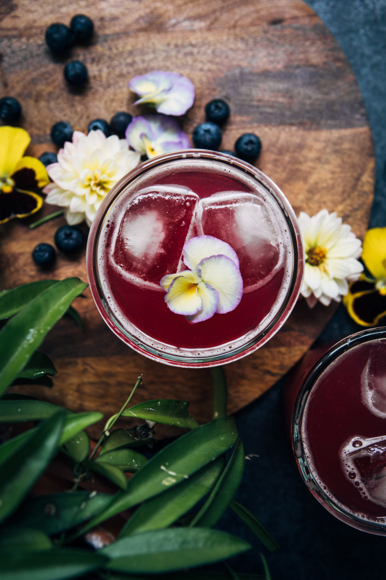 Blueberry Violet Lemonade | Well and Full | #flower #botanical #recipe