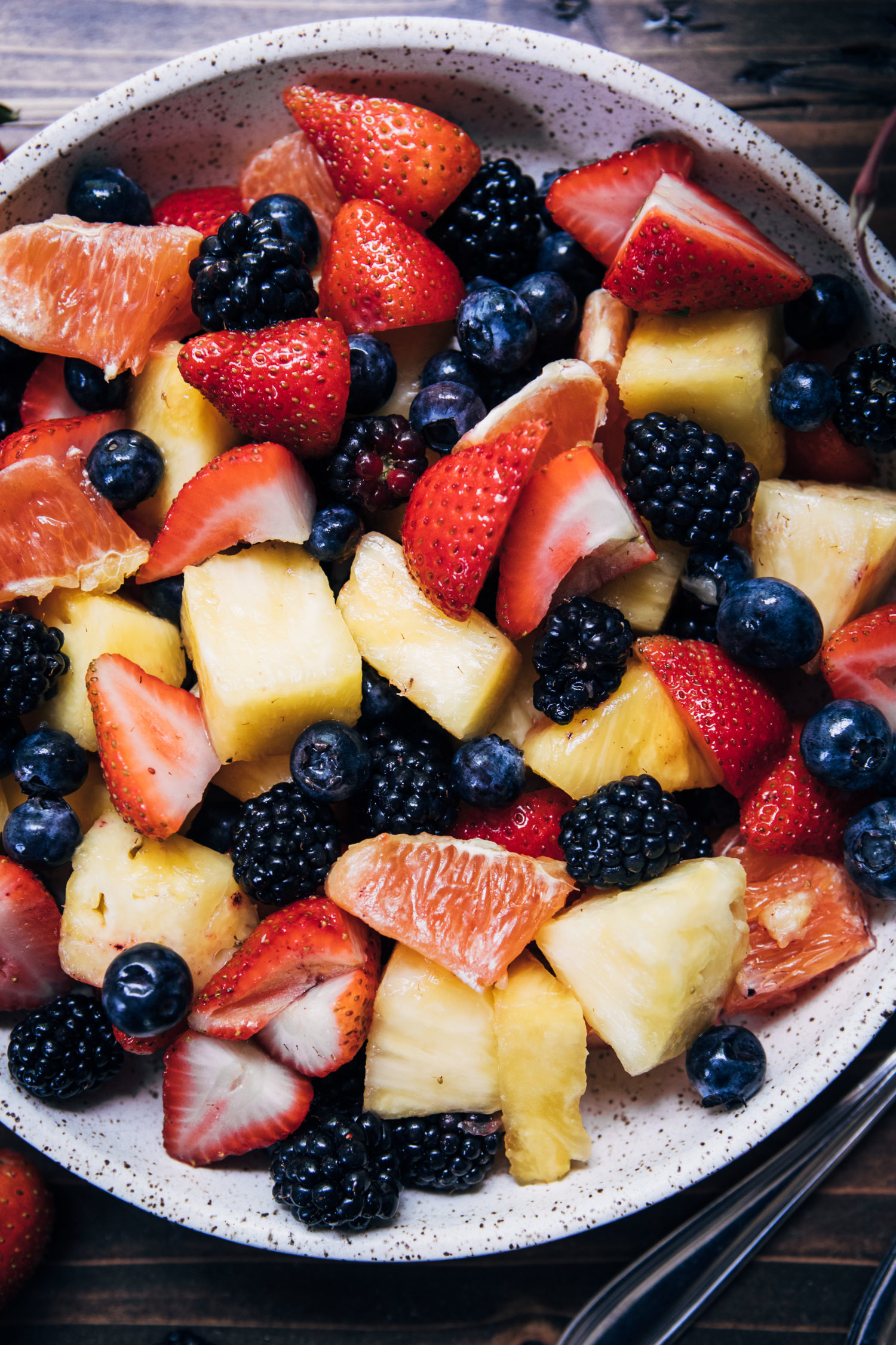 Summer Fruit Salad | Well and Full | #summer #recipe