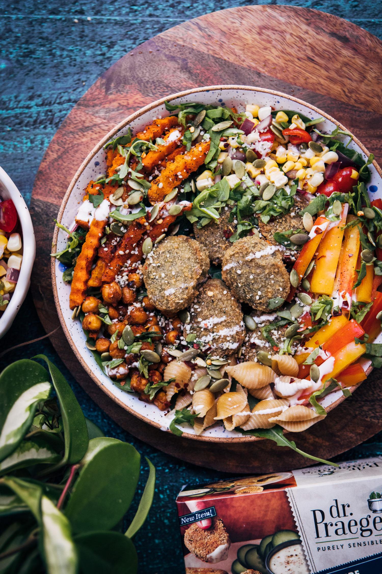 Summer Salad Bowl | Well and Full | #vegan #summer #recipe