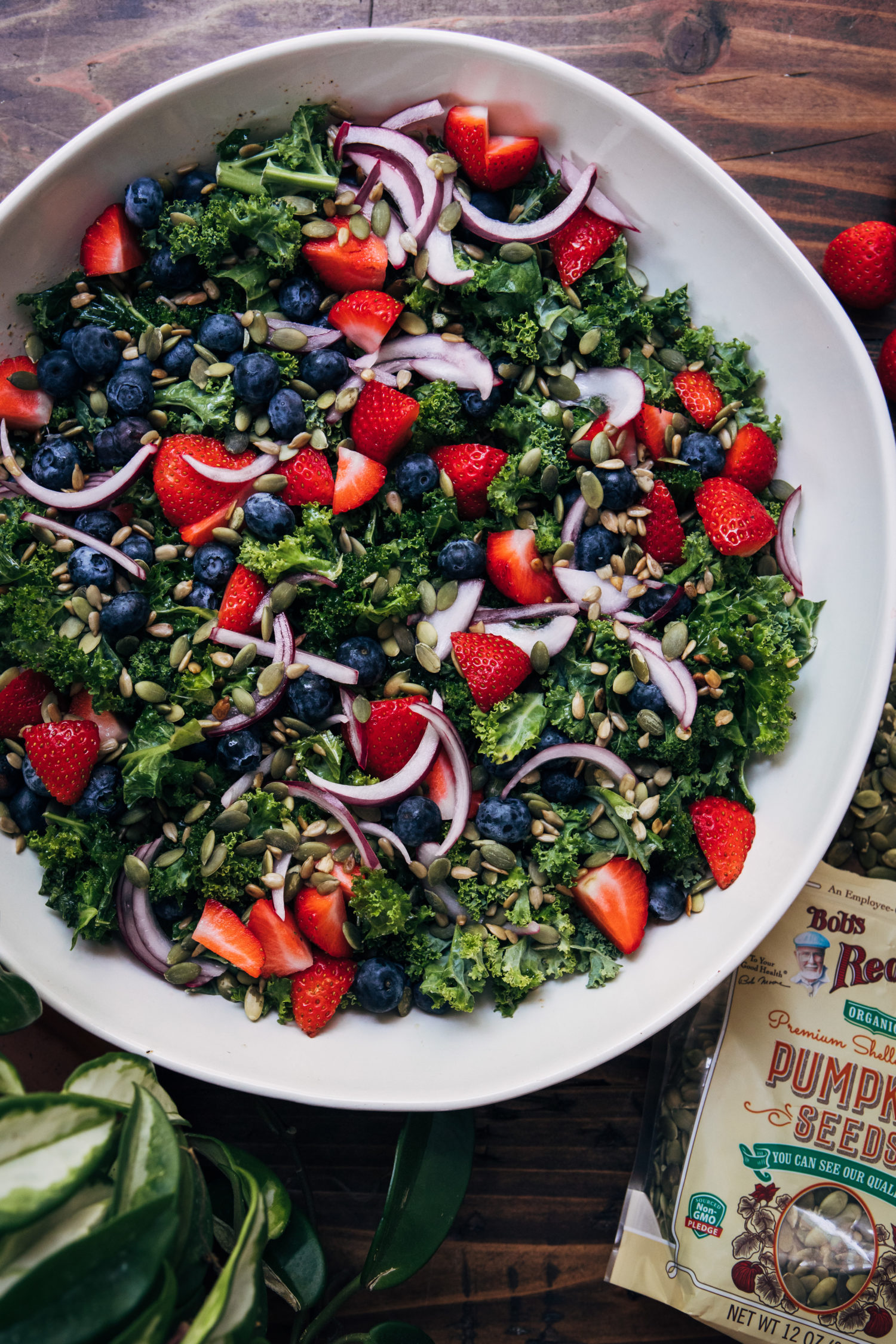 Vegan Superfood Kale Salad | Well and Full | #vegan #recipe #superfoods