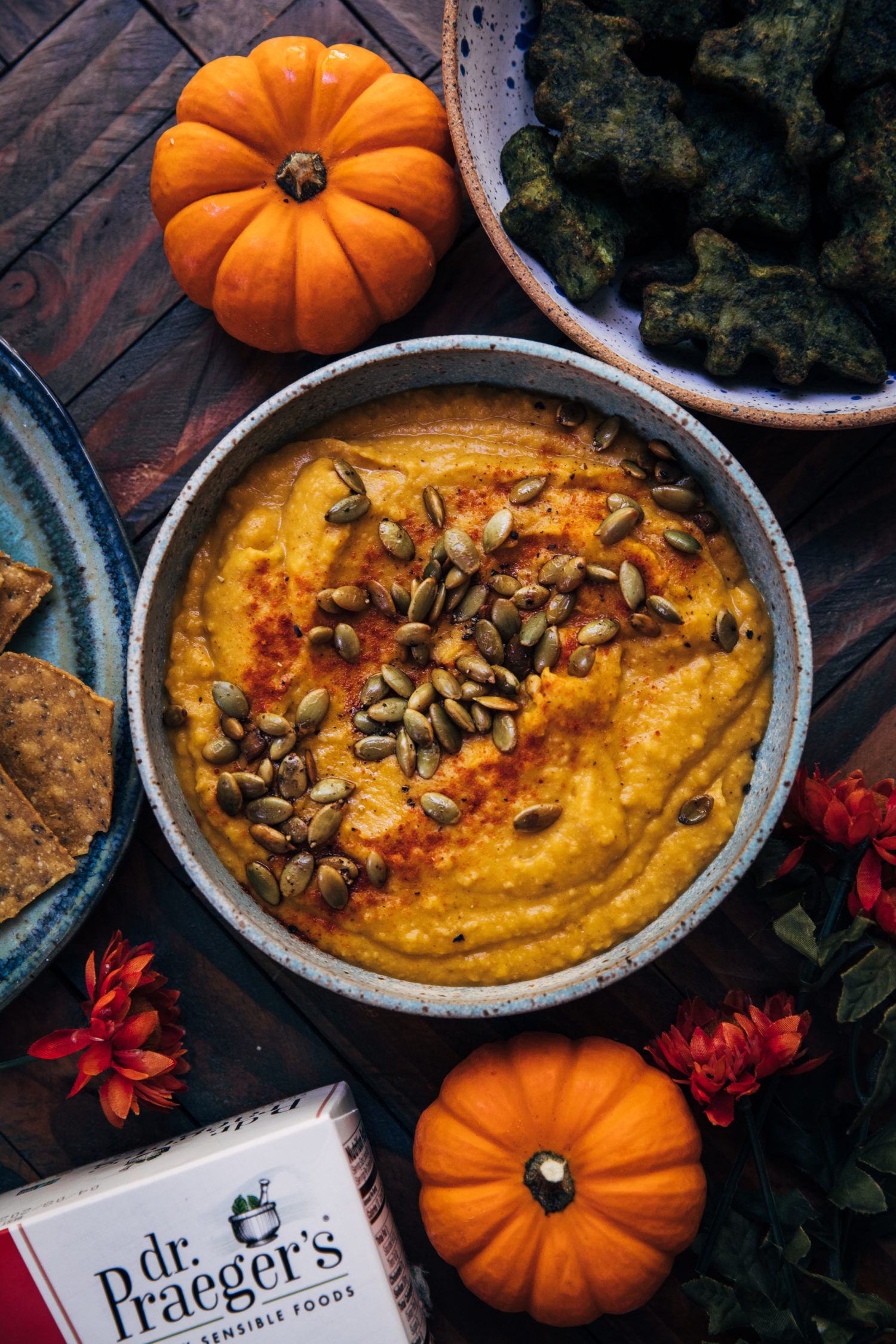 Pumpkin White Bean Dip | Well and Full | #vegan #recipe #vegetarian #fall