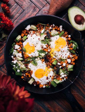 Fall Harvest Breakfast Skillet   Well and Full   #vegetarian #breakfast #recipe #glutenfree
