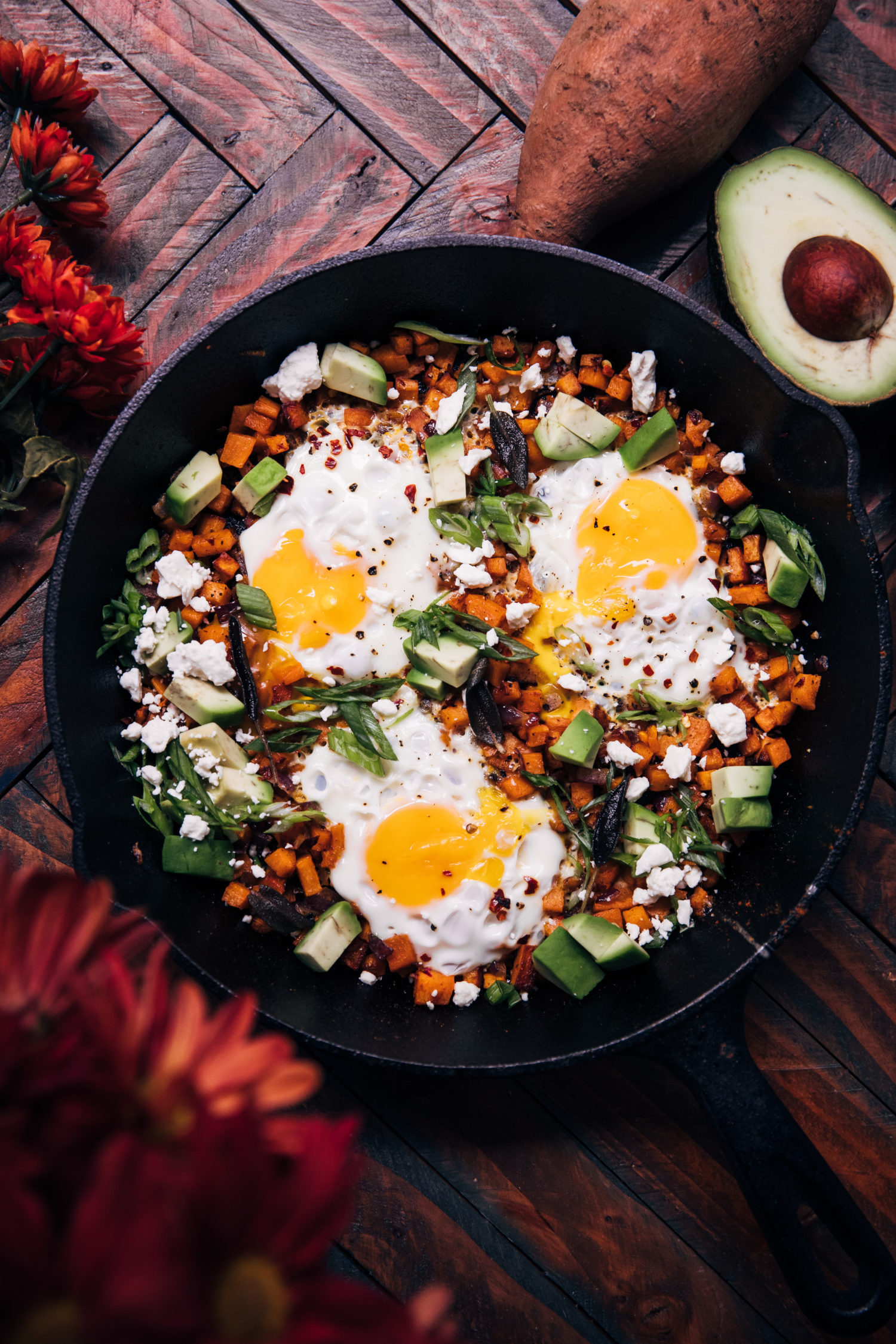 Fall Harvest Breakfast Skillet | Well and Full | #vegetarian #breakfast #recipe #glutenfree