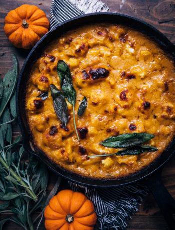 Pumpkin Gratin | Well and Full | #vegetarian #fall #recipe