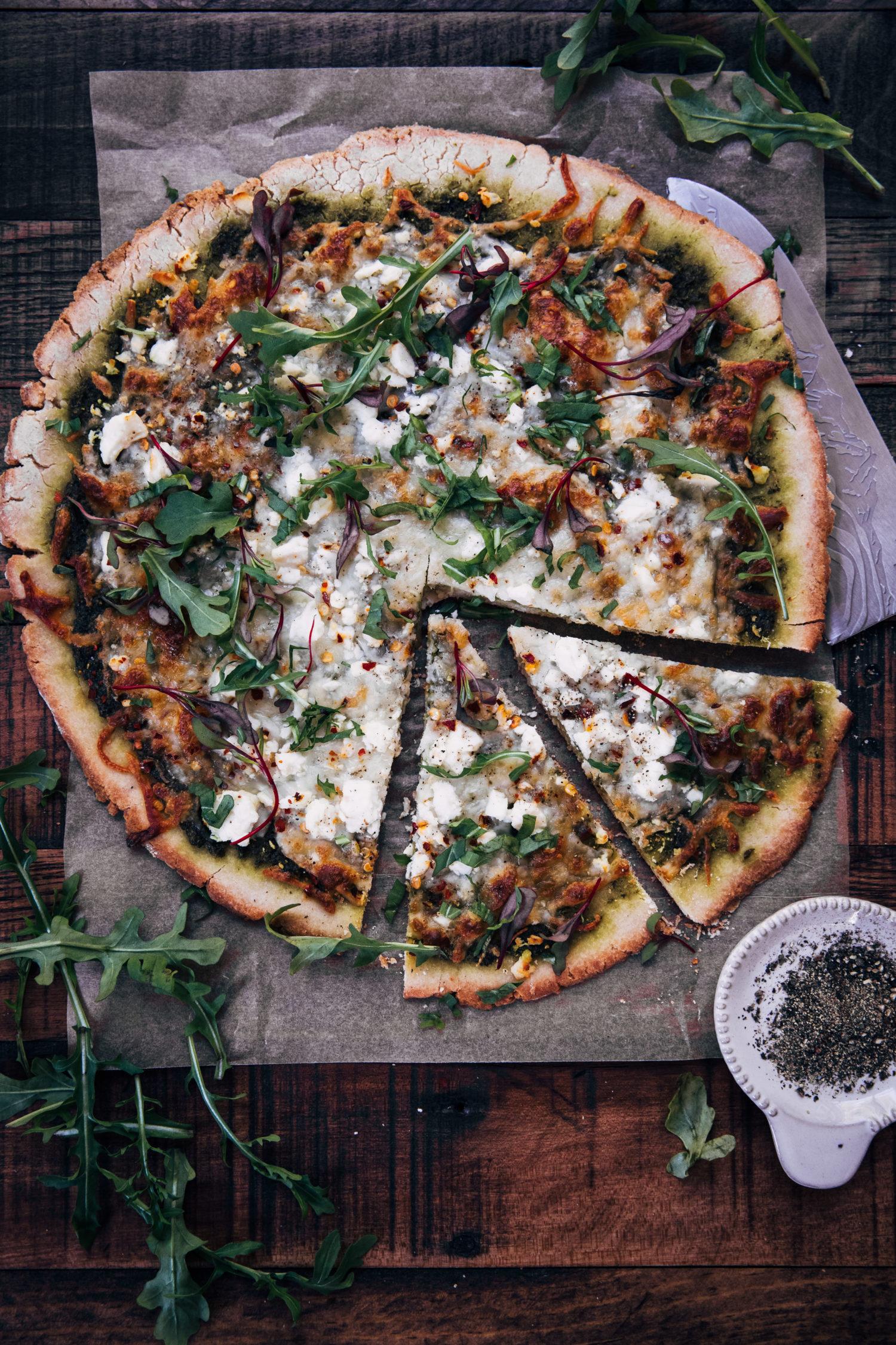 Gluten-Free Pizza Crust | Well and Full | #vegetarian #glutenfree #recipe