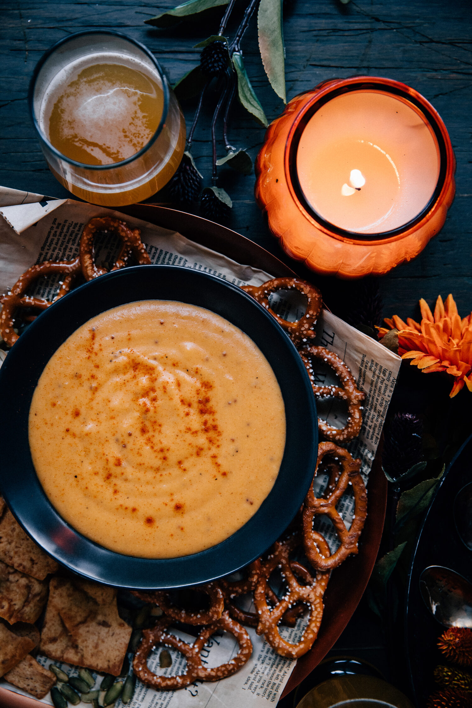 Smoky Beer Cheese | Well and Full | #vegetarian #recipe
