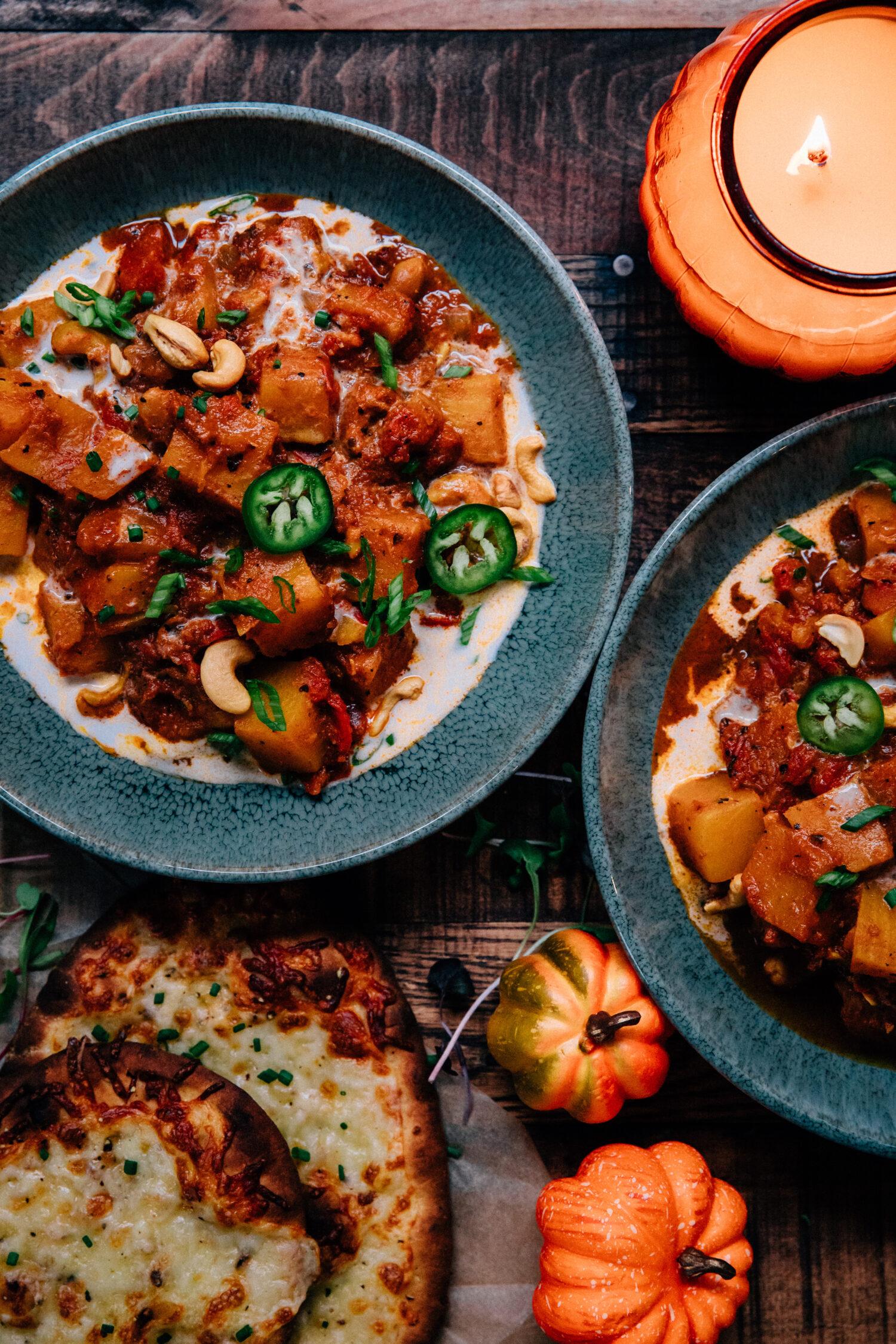 Butternut Squash Cashew Korma | Well and Full