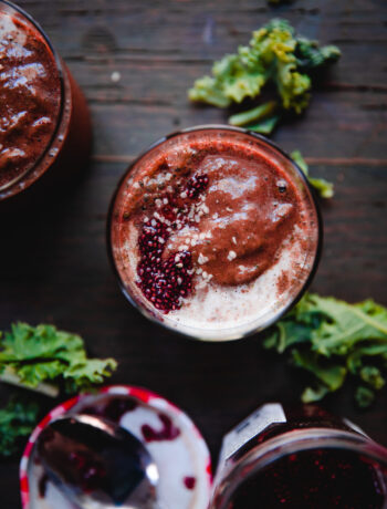 Anti-Inflammatory Tart Cherry Smoothie | Well and Full | #vegan #recipe #antiinflammatory