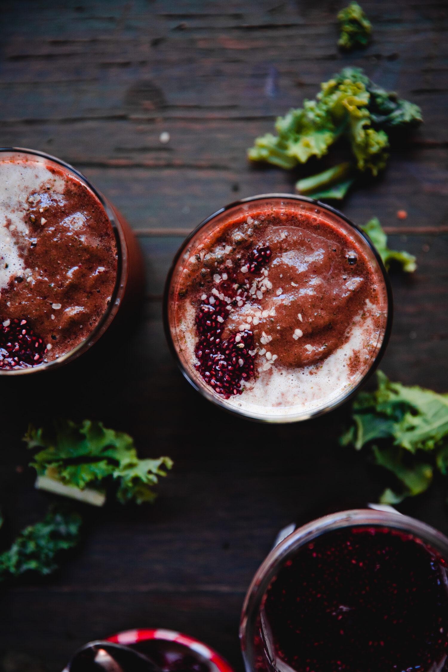 Anti-Inflammatory Tart Cherry Smoothie | Well and Full | #vegan #recipe #antiinflammatory