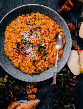 Pumpkin Risotto | Well and Full | #vegetarian #recipe
