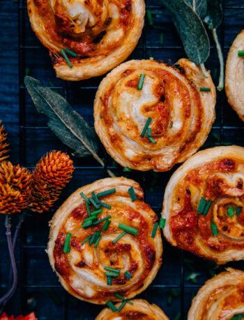 Pumpkin Pinwheels | Well and Full | #vegetarian #recipe